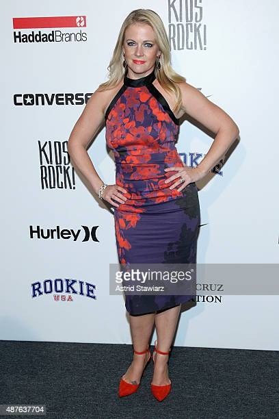 Melissa Joan Hart poses backstage at the Kids Rock fashion show during Spring 2016 New York Fashion Week The Shows at The Dock Skylight at Moynihan...