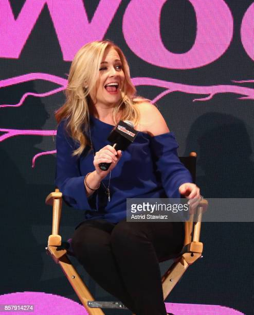 Melissa Joan Hart speaks onstage for Lifetime's The Watcher In The Woods Panel With Melissa Joan Hart And Paula Hart At New York Comic Con 2017 on...