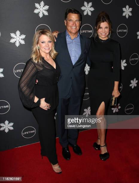 Melissa Joan Hart Ted McGinley and Gigi Rice attend the It's A Wonderful Lifetime Holiday Party at STK Los Angeles on October 22 2019 in Los Angeles...