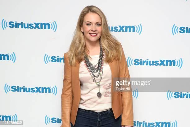 Melissa Joan Hart visits the SiriusXM Studios on April 3 2019 in New York City