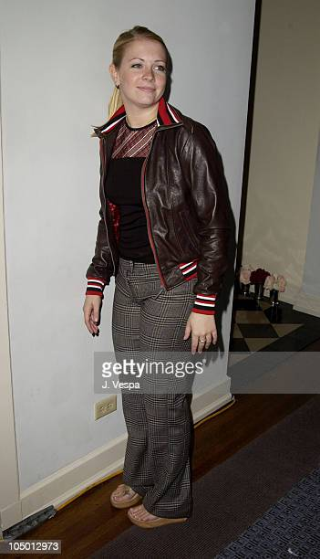 Melissa Joan Hart wearing an outfit by Dr Romanelli
