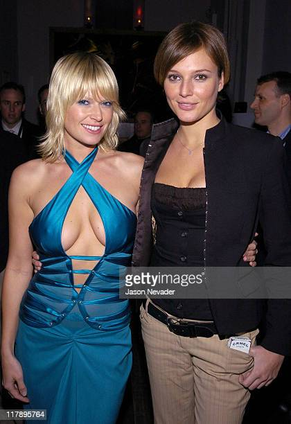 Melissa Keller and Bridget Hall during 2004 Sports Illustrated Swimsuit Issue After Party Hosted by Pontiac GTO at Club Deep in New York City New...