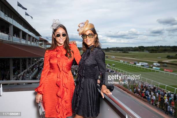 Melissa Khalaj and Rabea Schif attend the 147th Longines Grosser Preis von Baden on September 01 2019 in BadenBaden Germany