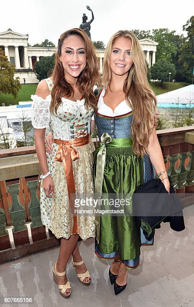 Melissa Khalaj and Viviane Geppert during the ProSieben Sat1 Wiesn as part of the Oktoberfest 2016 at Kaefer Tent on September 18 2016 in Munich...