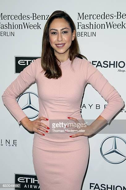 Melissa Khalaj attends the Ewa Herzog show during the MercedesBenz Fashion Week Berlin A/W 2017 at Kaufhaus Jandorf on January 19 2017 in Berlin...