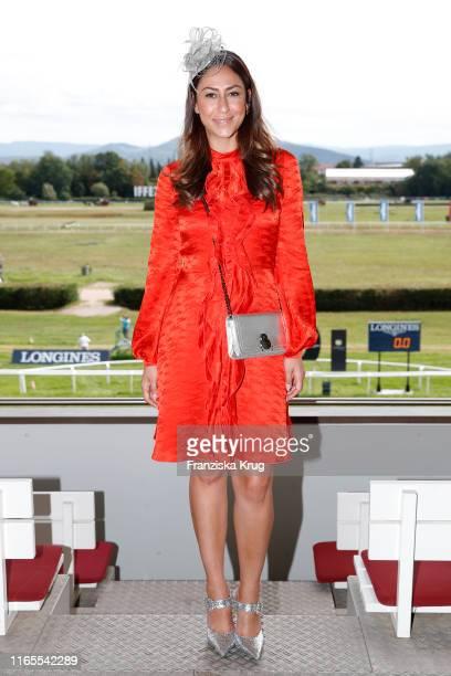 "Melissa Khalaj during the launch of ""Le Grand Weekend"" by Longchamp & Casino Baden-Baden at Rennplatz Iffezheim on September 1, 2019 in Baden-Baden,..."