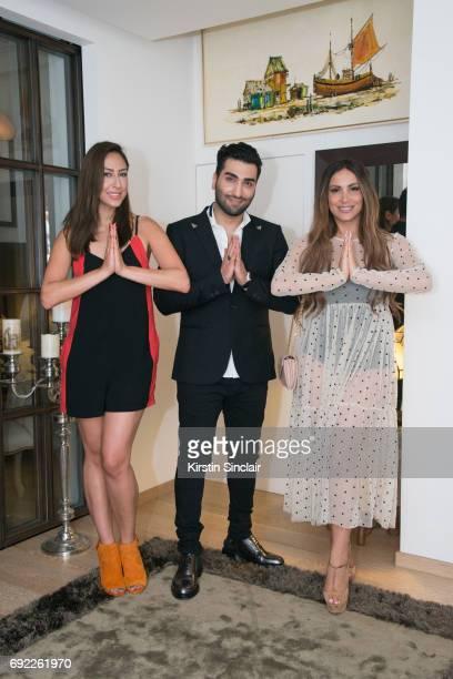 Melissa Khalaj Hossein Tohi and Enissa Amani attend Hofit Golan's Birthday celebrations on June 03 2017 in London England