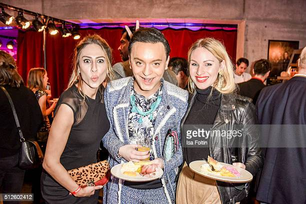 Melissa Khalaj, Julian F. M. Stoeckel and Evelyn Weigert attend the 'Holiday on Ice: Passion' Berlin Premiere Party on February 26, 2016 in Berlin,...