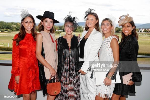 "Melissa Khalaj, Nadine Warmuth, Nina Victoria Suess, Laura Wontorra, Aylin Koenig-Oeztuerk and Rabea Schif during the launch of ""Le Grand Weekend"" by..."
