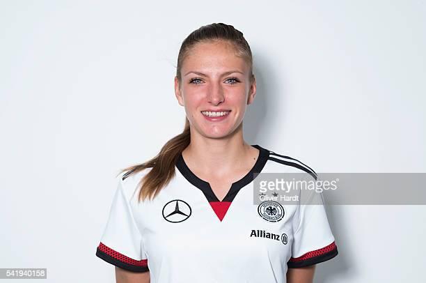 Melissa Koessler of Germany poses during the U16 Girl's Germany Team Presentation on June 21 2016 in Malente Germany
