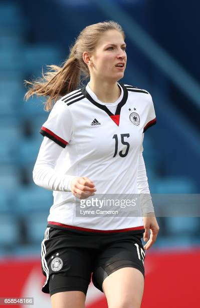 Melissa Kossler of Germany during the England v Germany U17 Girl's Elite Round match on March 27 2017 in Telford England