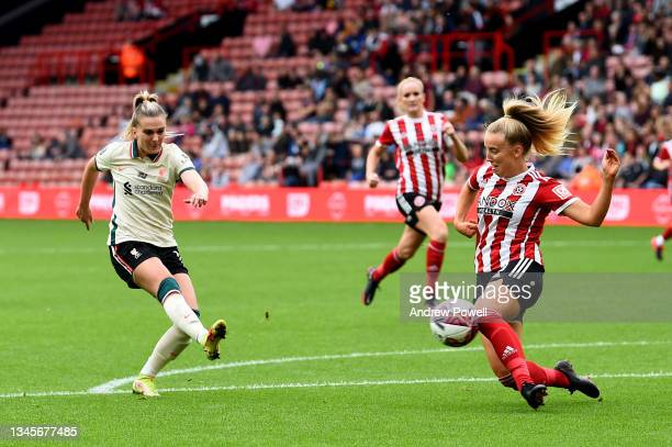 Melissa Lawley of Liverpool Women during the Barclays FA Women's Championship match between Sheffield United Women and Liverpool Women at Bramall...