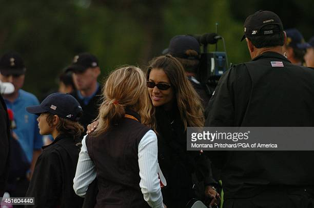 Melissa Lehman and Brooke Harrison on the sidelines during Round 2 afternoon Foursome matches the Ryder Cup held at The KClub in Straffan Ireland...
