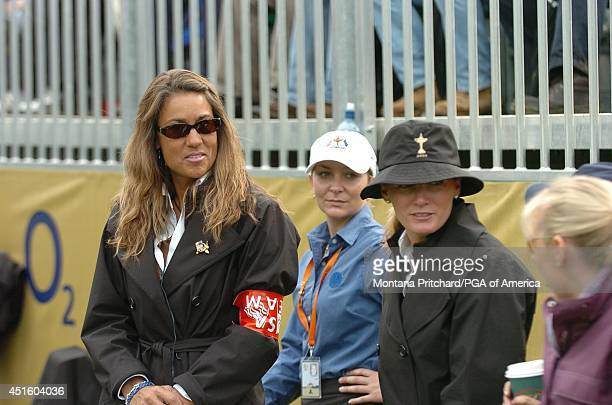 Melissa Lehman and Kim Verplank on the first tee during round 4 Singles matches at the Ryder Cup held at The KClub in Straffan Ireland Sunday...