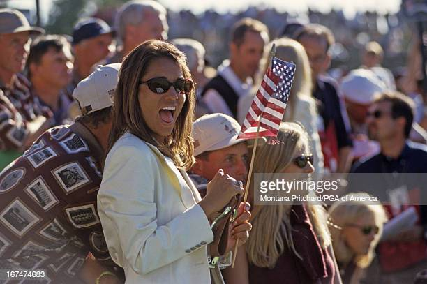 Melissa Lehman at the 33rd Ryder Cup Matches held at The Country Club in Brookline Massachusetts Sunday September 26 1999
