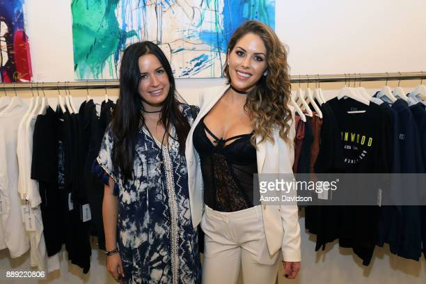 Melissa Lena and Brittney Palmer attend Brittney Palmer's No Agency Art Show Shop At Art Basel Miami 2017 on December 9 2017 in Miami Florida