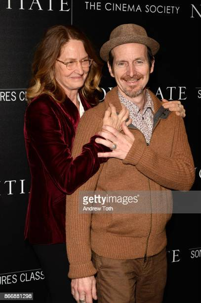 Melissa Leo and Denis O'Hare attend a screening of Sony Pictures Classics' 'Novitiate' hosted by The Cinema Society at The Landmark at 57 West on...