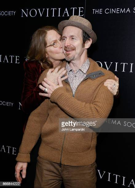 Melissa Leo and Denis O'Hare attend Miu Miu The Cinema Society host a screening of Sony Pictures Classics' 'Novitiate' at The Landmark at 57 West on...