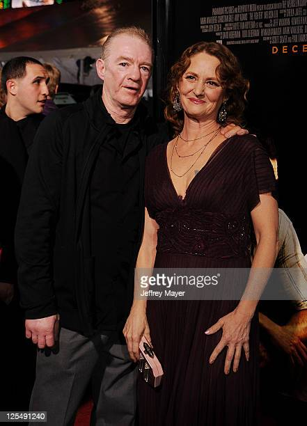 """Melissa Leo and Dicky Eklund attend """"The Fighter"""" Los Angeles premiere at Grauman's Chinese Theater on December 6, 2010 in Hollywood, California."""
