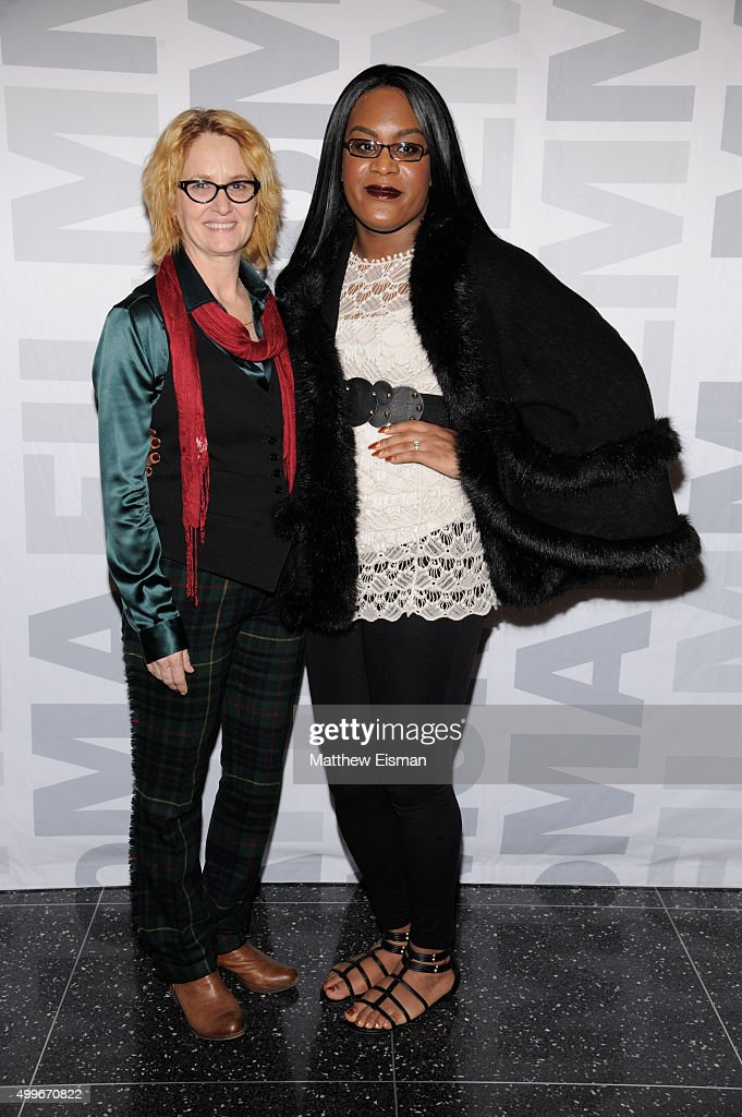 Melissa Leo (L) and Mya Taylor attend the 'Tangerine' New York screening at MoMA Titus One on December 2, 2015 in New York City.