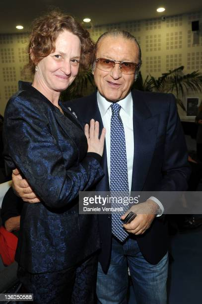 Melissa Leo and Tony Renis attend the third day of the 16th Annual Capri Hollywood International Film Festival on December 29 2011 in Capri Italy