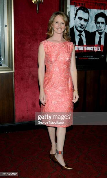 Melissa Leo attends the New York premiere of 'Righteous Kill' at the Ziegfeld Theater on September 10 2008 in New York City