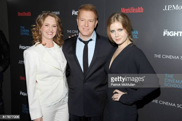 Melissa Leo Ryan Kavanaugh and Amy Adams attend THE CINEMA SOCIETY with MEN'S HEALTH JP MORGAN CHASE FOUNDATION screening of THE FIGHTER to benefit...