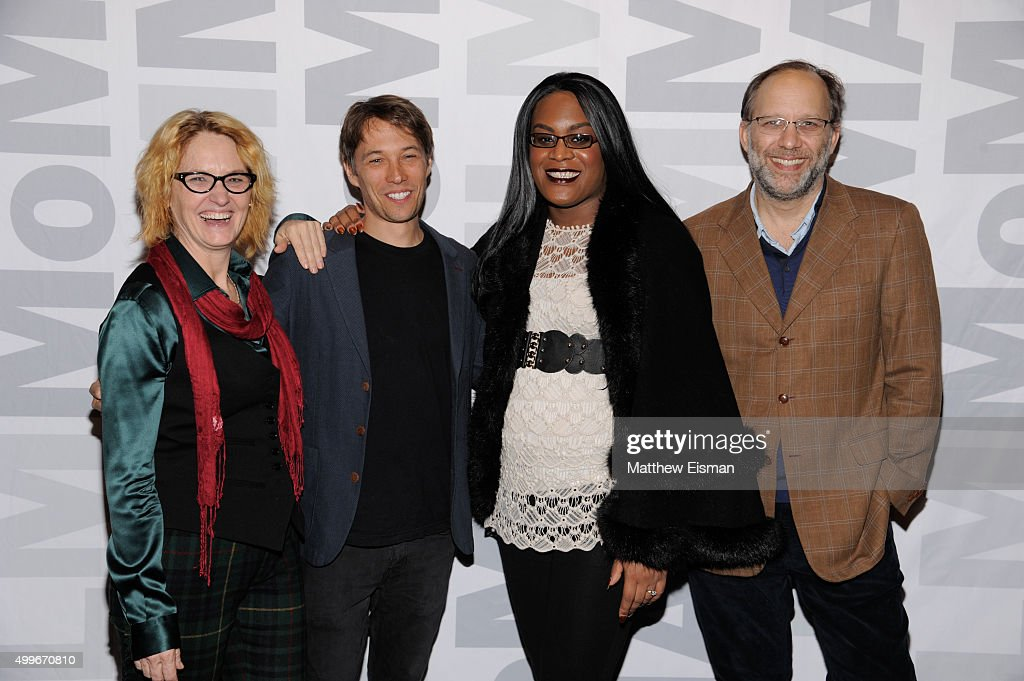 Melissa Leo, Sean Baker, Mya Taylor, and Ira Sachs attend the 'Tangerine' New York screening at MoMA Titus One on December 2, 2015 in New York City.