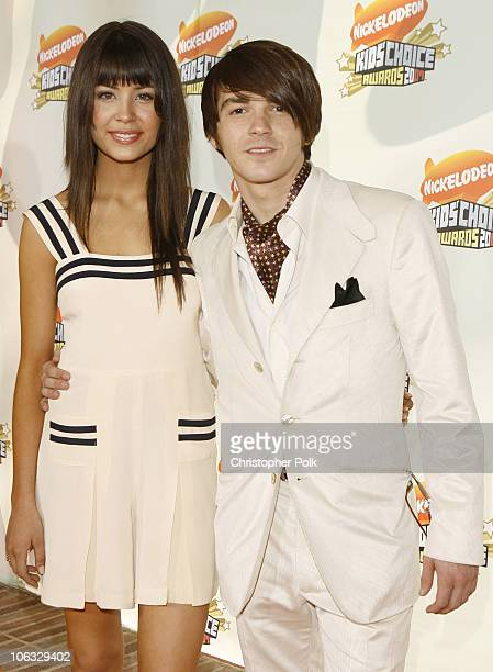Melissa Lingafelt and Drake Bell during Nickelodeon's 20th Annual Kids' Choice Awards Orange Carpet at Pauley Pavilion UCLA in Westwood California...