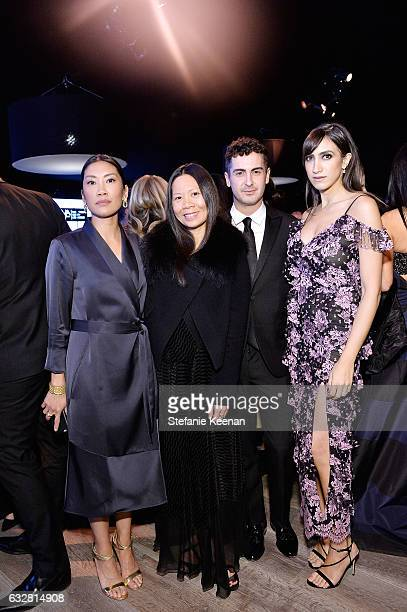 Melissa Magsaysay Marcy Medina Micah Schifman and Mandana Dayani attend PSLA partners with Carolina Herrera for Winter Gala on January 26 2017 in...