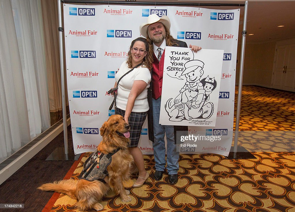 Melissa Maher, Chauncey and Guy Gilchrist attend AnimalFair.com Bark Breakfast Benefiting K9s For Warriors at the Loews Vanderbilt Hotel on July 24, 2013 in Nashville, Tennessee.