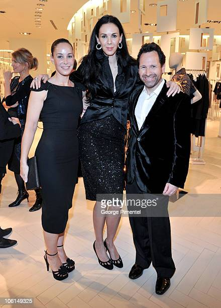 Melissa Manly designer L'Wren Scott and Barry Avrich attend the cocktail reception for designer L'Wren Scott at The Room The Bay on October 26 2010...