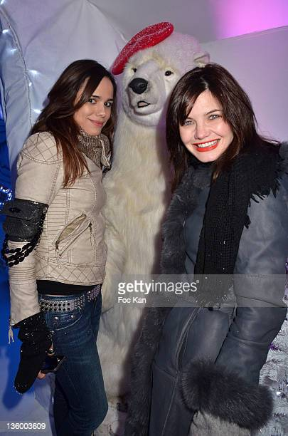 Melissa Mars and Delphine Chaneac attend the 'Association Petits Princes' And Coca Cola Red Train Launch At Gare de L'Est on December 15 2011 in...
