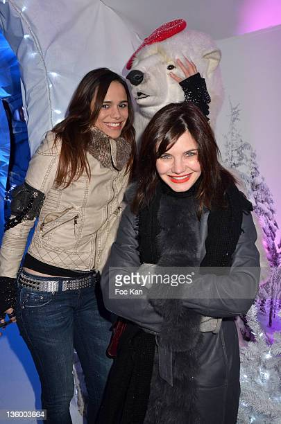 PARIS FRANCE DECEMBER Melissa Mars and Delphine Chaneac attend the 'Association Petits Princes' And Coca Cola Red Train Launch At Gare de L'Est on...
