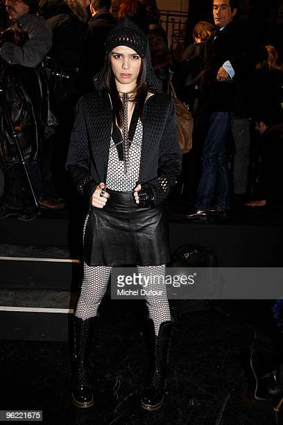 Melissa Mars attends Elie Saab Fashion Show during Paris Fashion Week Haute Couture S/S 2010 at Atelier JeanPaul Gaultier on January 27 2010 in Paris...
