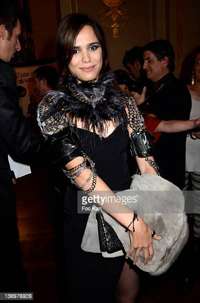 Melissa Mars attends the 17th 'Ceremonie Des Lumieres' at the Hotel de Ville on January 13 2012 in Paris France