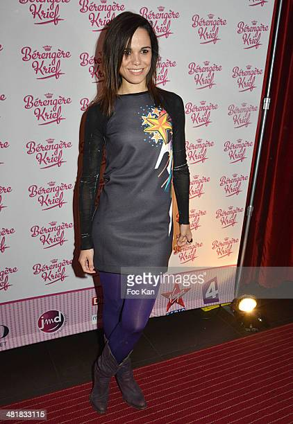 Melissa Mars attends the '300Eme of Berangere Krief' at the Theater Bobino on March 31 2014 in Paris France