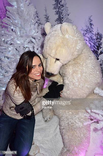 Melissa Mars attends the 'Association Petits Princes' And Coca Cola Red Train Launch At Gare de L'Est on December 15 2011 in Paris France