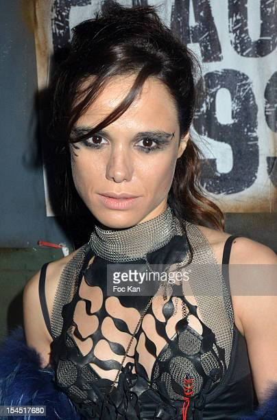 Melissa Mars attends the 'Chaos 2099' Apocalypse Costume Ball hosted by Les Ambassadeurs In Entrepots Babcock on October 20 2012 in La Courneuve...