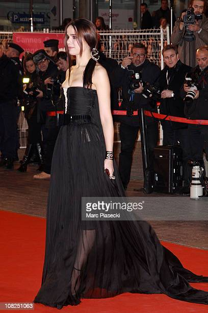 Melissa Mars attends the NRJ Music Awards 2011 on January 22 2011 in Cannes France