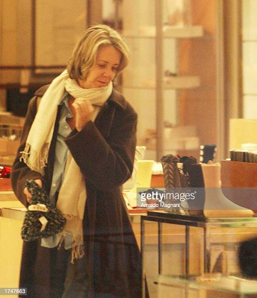 Melissa Mathieson exwife of actor Harrison Ford shops in Barney's January 20 2003 in New York City