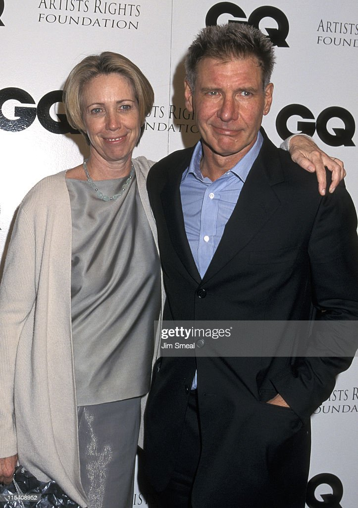 Melissa Mathison and Harrison Ford during GQ's Leading Men Party at The Sunset Club in Hollywood, California, United States.