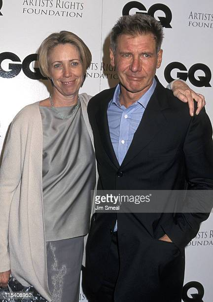 Melissa Mathison and Harrison Ford during GQ's Leading Men Party at The Sunset Club in Hollywood California United States
