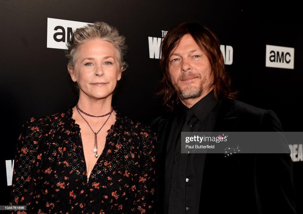 "Premiere Of AMC's ""The Walking Dead"" Season 9 - Arrivals : Nieuwsfoto's"
