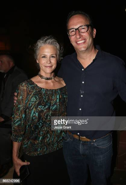 Melissa McBride and President General Manager AMC SundanceTV AMC Studios Charlie Collier attend The Walking Dead 100th Episode Premiere and Party on...