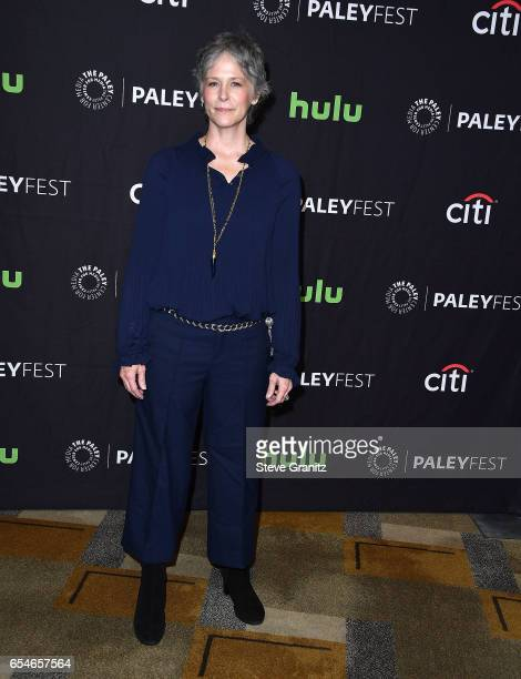 Melissa Mcbride arrives at the The Paley Center For Media's 34th Annual PaleyFest Los Angeles Opening Night Presentation 'The Walking Dead' at Dolby...