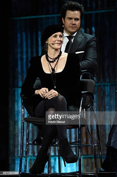 """Melissa McBride attends AMC's """"The Walking Dead"""" season 6 fan premiere event at Madison Square Garden on October 9, 2015 in New York City."""