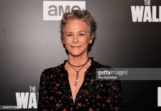 """Melissa McBride attends the premiere of AMC's """"The Walking Dead"""" season 9 at DGA Theater on September 27, 2018 in Los Angeles, California."""