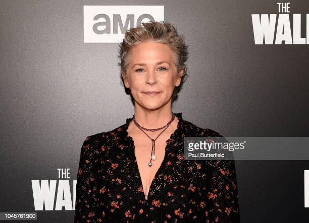 Melissa McBride attends the premiere of AMC's The Walking Dead season 9 at DGA Theater on September 27 2018 in Los Angeles California