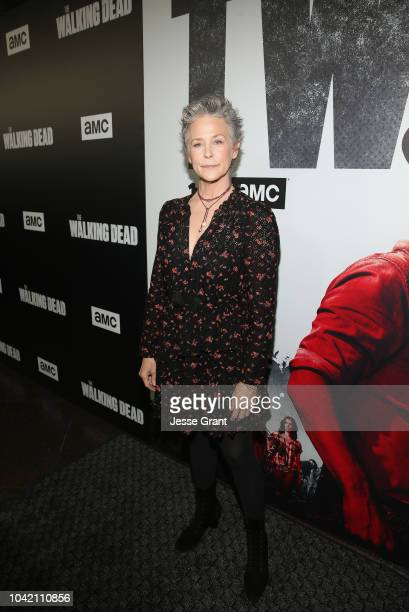 Melissa McBride attends The Walking Dead Premiere and After Party on September 27 2018 in Los Angeles California